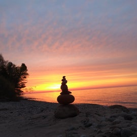 Rocky beaches still have some charm, and the sunrises are amazing