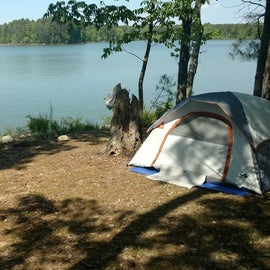 cozy campsite with lake access