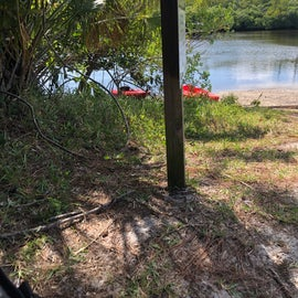 boat launch near river campground