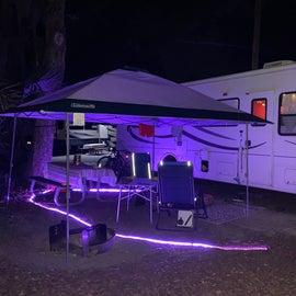 evening set up at site 139