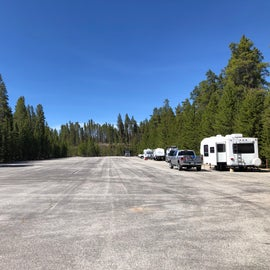 Matchless campground - sites are at the sides