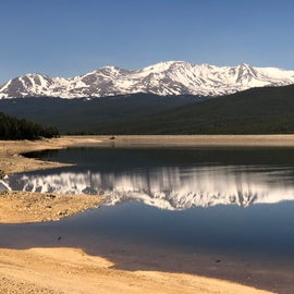 view of Turquoise Lake and Sawatch Mountains from the Turquoise Lake trail