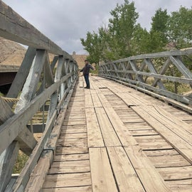 Last suspension bridge in Utah