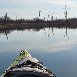 fishing from the kayaks