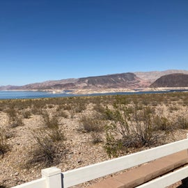 Lake View Site 24 view of Lake Mead.