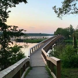 foot bridge between camp loop and marina