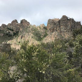 View from hike above campground.