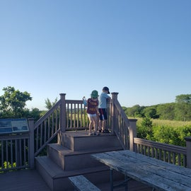 observation deck and info on honey hill