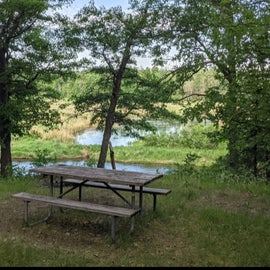 picnic table with a view!