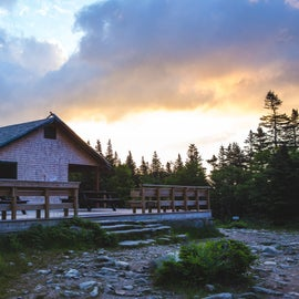 The AMC Hermit Lake hut - can't sleep here but enjoy the deck!