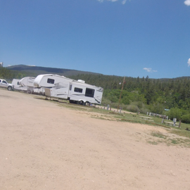 a row for RV's with hookups