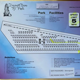 Park Map.  Most of the short termers stay on the two internal rows where our site, 150, was located.