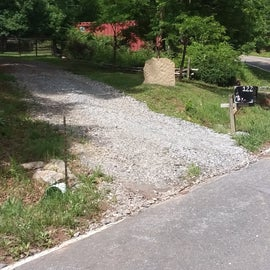 this is our driveway as you approach.