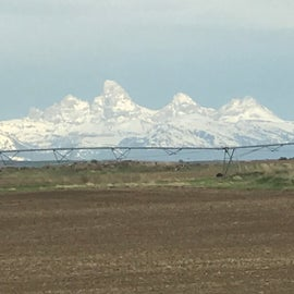 View of the west side of the Tetons.