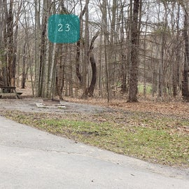 Blackwater Falls SP Campground Site 23
