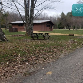 Blackwater Falls SP Campground Site 24