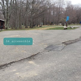 Blackwater Falls SP Campground Site 54 Accessible