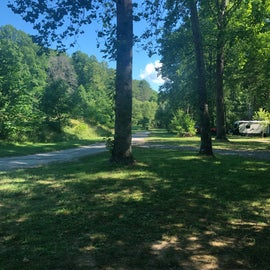 view of the other campsites and the area