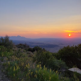 sunset from the rim