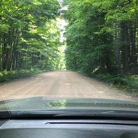 National Forest camping means going down dirt and gravel roads