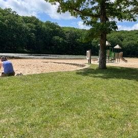 playground adjacent to beach