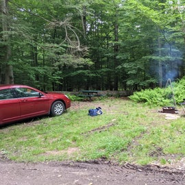 fire pit and pad next to road
