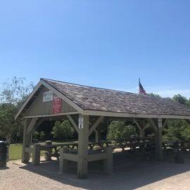 Shelter atop the hill