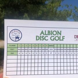 Disc Golf Score Sheet