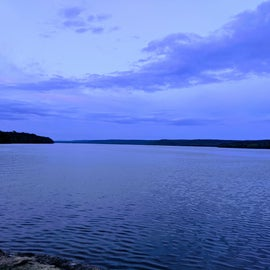 View of Ft Gibson Lake