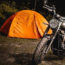 Tent camping is readily available
