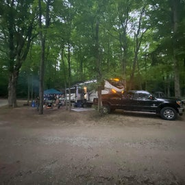 sites are close together. we got lucky and took over the neighboring site's picnic area. (your looking at two pull through campsites, from driveway to driveway)
