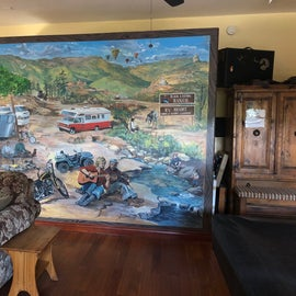 mural in lodge
