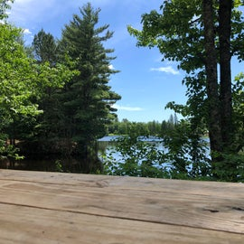 View from our picnic table