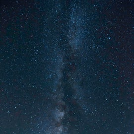 The milky way as viewed from the campground below the tower.