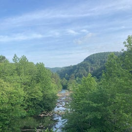 View of the river that flows behind the campground