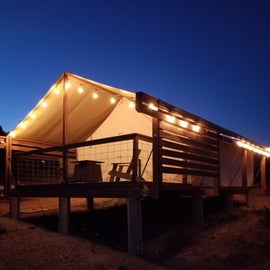 The larger primitive glamping tent