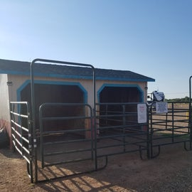 Horse stalls and pen