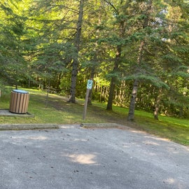 tent site with picnic table