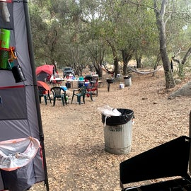 Crowded neighboring sites (there is a third tent you can't see)