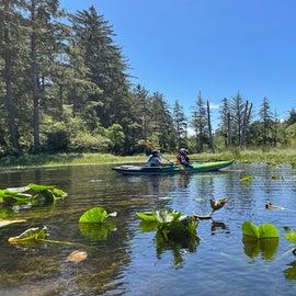 kayaking on Coffenbury Lake