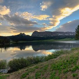 sunset at Brook Lake