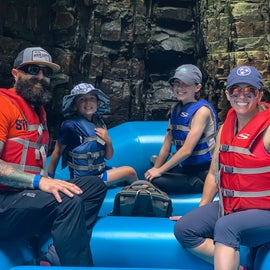 Rafting the Ausable Chasm. Do it! One of us is afraid of water & rapids....this was totally doable & fun for all!