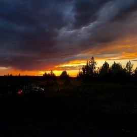 sunset of the high desert of Oregon