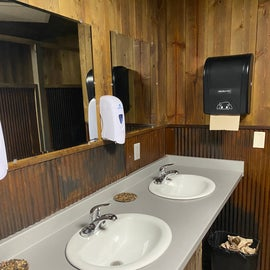 for being such a huge campground, and fully booked during our stay, the bathrooms and showers were always minimally used / nearly empty