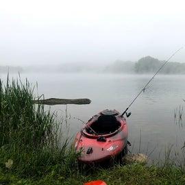 calm kayaking