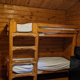 Cabin 58 bunk beds