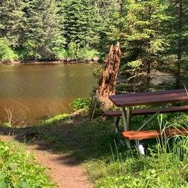 Water view picnic spot.