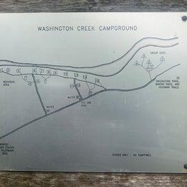Washingto Creek Campground map.