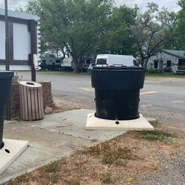 trash receptacles throughout