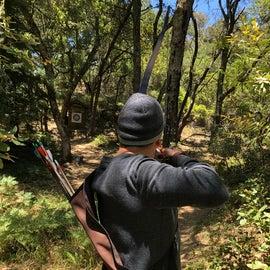 shooting on the archery range